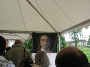 Viewing painting on way to see Shroud of Turin