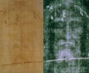 Jesus face on Turin Shroud